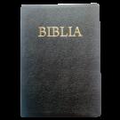 Biblia foarte mare, piele, neagra, aurita, index, fermoar, fara cruce [093 PFI]