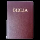 Biblia pentru amvon, foarte mare, piele, visinie, aurita, materiale ajutatoare, cu cruce [093 P]