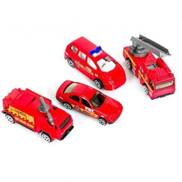 Set Masini Pompieri, 4 buc. - Jucarii pentru copii