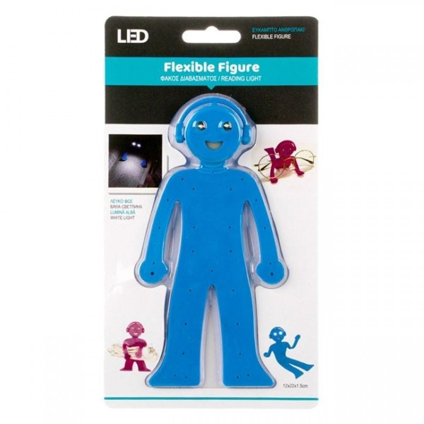 Figura flexibila, albastra - Lanterna pentru citit