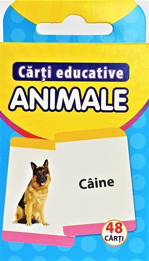 Carti de joc Educative - ANIMALE (48 carti)