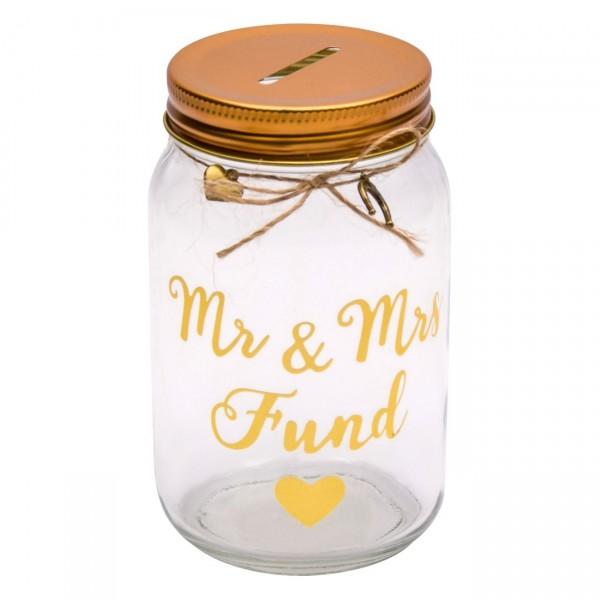 Pusculita sticla - Mr & Mrs fund (7 x 14 cm)