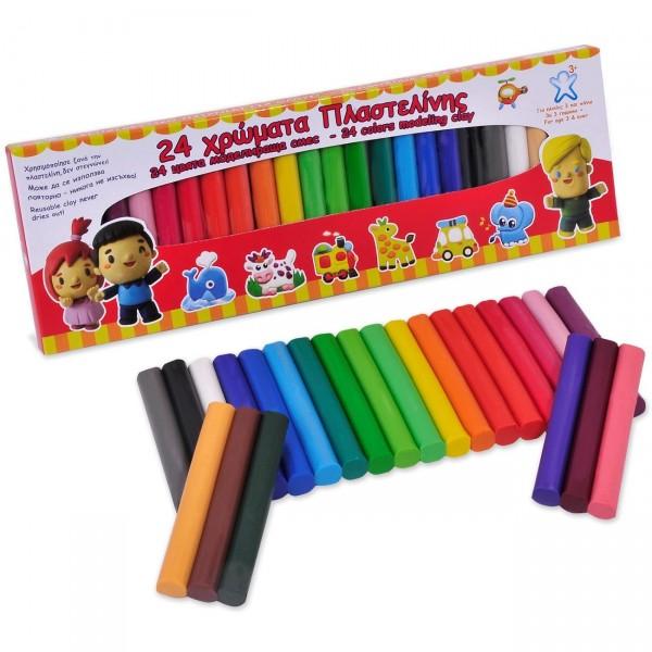 Plastilina, 24 culori - Activitati pentru copii (3+)