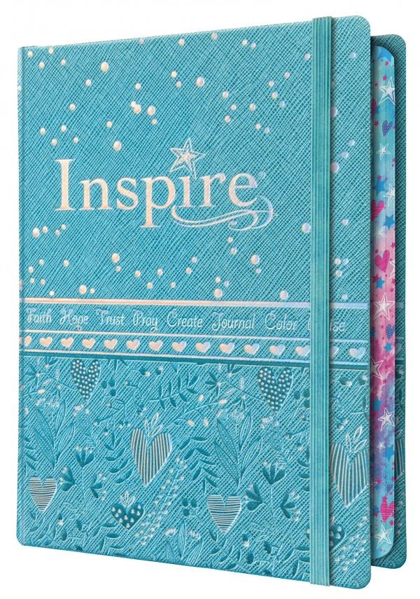 NLT Inspire Bible for Girls - The Bible for coloring and creative Journaling