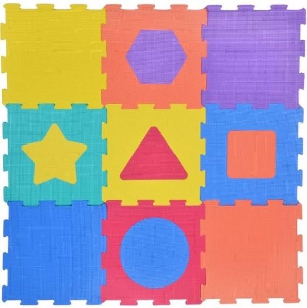 Puzzle de podea - Forme geometrice - Activitati pentru copii (3+)