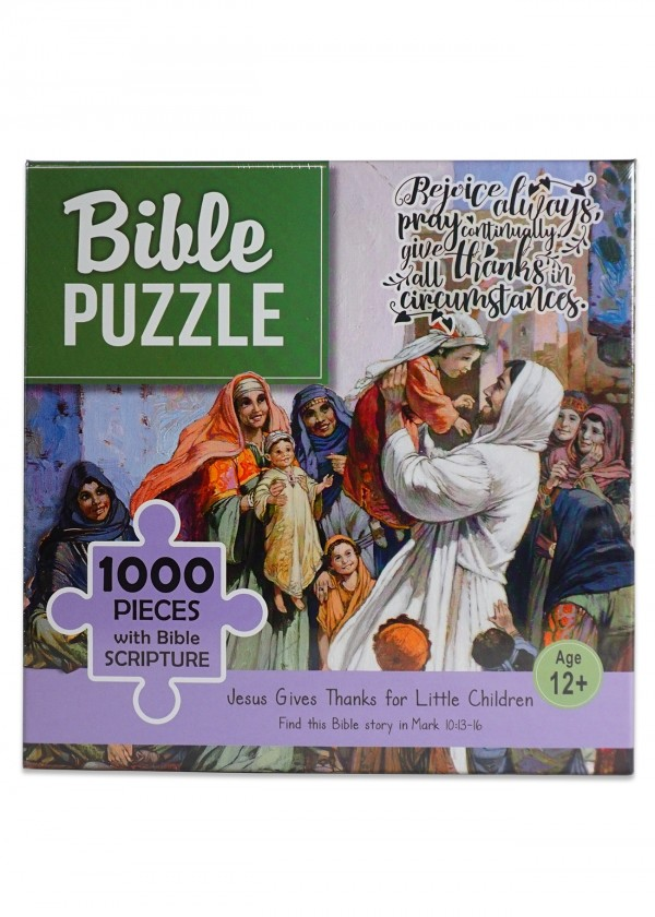 Puzzle biblic 1000 piese - Jesus Gives Thanks for Little Children