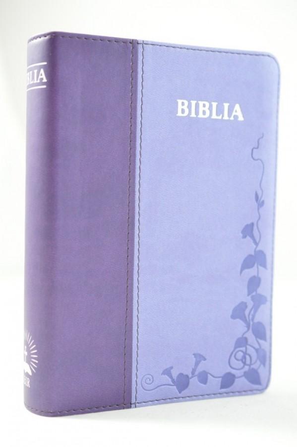 Biblie mica din piele, cuv. Isus rosu,cu index