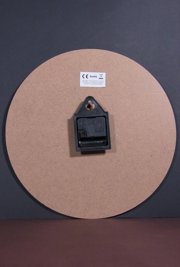 Ceas de perete rotund din lemn - Lavanda (34cm)