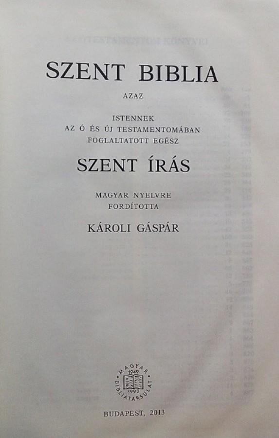 Biblie in maghiara