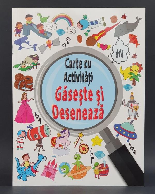 Gaseste si deseneaza - Carte cu activitati pentru copii (5-7 ani)