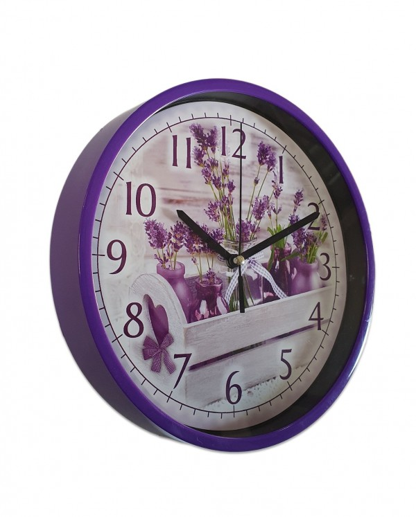 Ceas rotund de perete Lavender(24 cm)