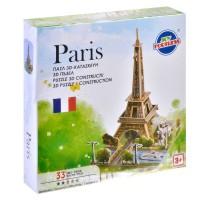 Puzzle 3D constructii - Paris - 33 piese - Activitati pentru copii (3+)