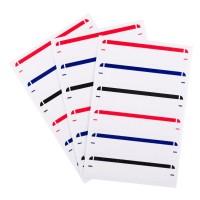 Etichete autocolante cu linie colorată 6,9x1,5 cm - 60 buc.