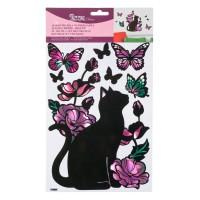 Autocolante decorative - Pisica neagra