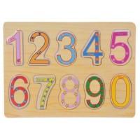 Puzzle din lemn - Numere - Activitati pentru copii (3+) (Model 3)