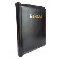 Biblia de studiu inductiv (trad. D. Cornilescu), piele naturala, neagra, fermoar