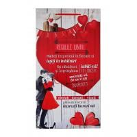 Tablou motivational ( 27x50 ) - Regulile iubirii