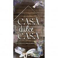 Tablou motivational ( 27x50 ) - Casa dulce casa