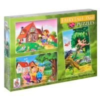 Set 3 Puzzle - Pinocchio, Cei 3 Purcelusi, Tarzan - Activitati pentru copii (5+)