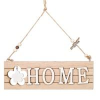 Agatatoare din lemn decorativa, bej - HOME (26x8.5cm)