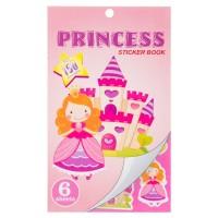 Carte cu stickere - Princess, 6 File (3+)