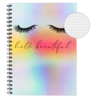 Caiet A4, coperta holografica - Hello beautiful