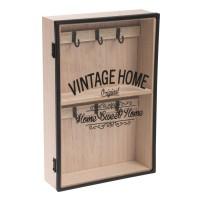 Cuier din lemn cu usa de sticla - Vintage Home (20x30cm)