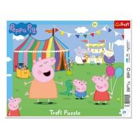 Puzzle, 25 piese - Peppa Pig, Trefl - Activitati pentru copii (3+)