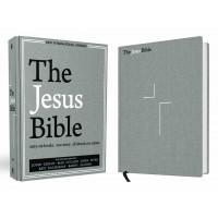 The Jesus Bible, NIV Edition, Cloth over Board, Gray Linen, Hardcover - biblie de studiu in lb. engleza