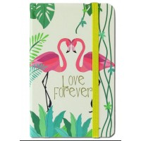 Caiet pentru femei - Flamingo Love Forever ( 9x14x1.5 cm )