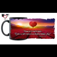 Cană termosensibilă, mesaj crestin - Te iubesc cu o iubire veșnică (Ieremia 31,3)