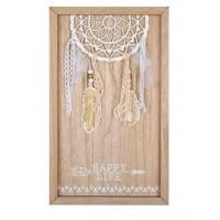 Tablou din lemn - HAPPY LIFE (24X40cm)
