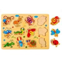 Puzzle din lemn - Insecte - Activitati pentru copii (3+)