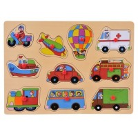 Puzzle din lemn - Vehicule - Activitati pentru copii (3+)