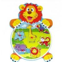 Puzzle din lemn - Animale din padure - Activitati pentru copii (3+)