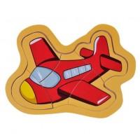 Puzzle din lemn - Avion - Activitati pentru copii (3+)
