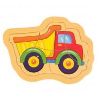Puzzle din lemn - Camion - Activitati pentru copii (3+)