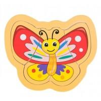 Puzzle din lemn - Fluture - Activitati pentru copii (3+)