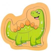 Puzzle din lemn - Dinozaur - Activitati pentru copii (3+)