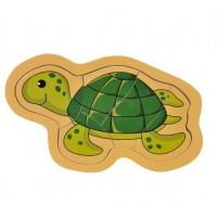Puzzle din lemn - Broasca testoasa - Activitati pentru copii (3+)