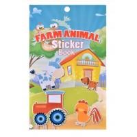 Carte cu Autocolante - Animale de la ferma, 6 File (3+)