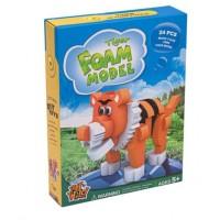 Puzzle din burete - Tigru 3D, 24 piese - Activitati pentru copii (5+)