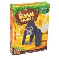 Puzzle din burete - Gorila 3D, 18 piese - Activitati pentru copii (5+)