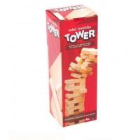 Mini tumblin TOWER - Joc cu cuburi din lemn pentru copii (6+)