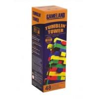 Tumblin TOWER - Joc cu cuburi din lemn colorate pentru copii (6+)