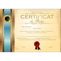 Certificat de Botez - model 8