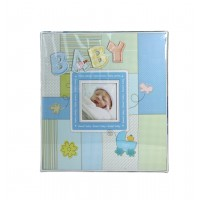 Rama foto copii - Album Baby albastru (31.5x32.5x5 cm)