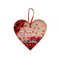 Tablou motivational inima (20x19cm) - Inima mea