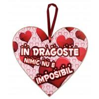 Tablou motivational inima (20x19cm) - In dragoste