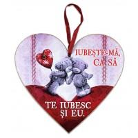 Tablou motivational inima (20x19cm) - Iubeste-ma